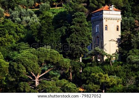 Portofino architectural detail, Ligurian Coast, Italy - stock photo