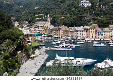 Portofino boats at the bay