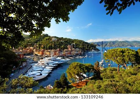 Portofino village on the Ligurian Coast, Italy - stock photo