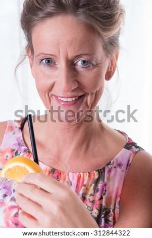 Portrait attractive women smiling - stock photo