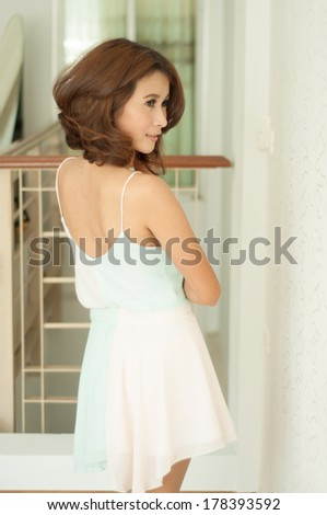 Portrait beautiful asian girl show fashion concept - stock photo