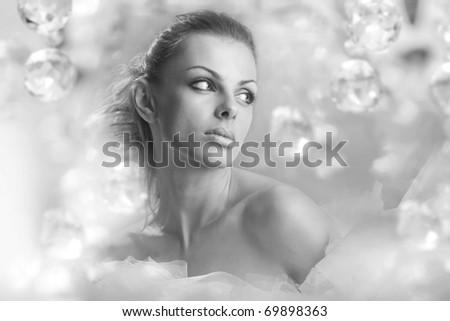 Portrait beautiful woman - stock photo