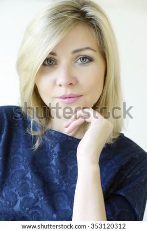 portrait business woman  - stock photo