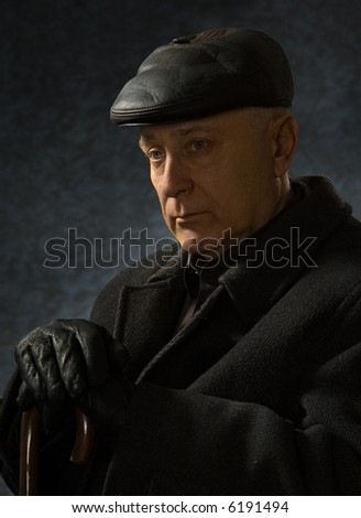 Portrait elderly men - stock photo