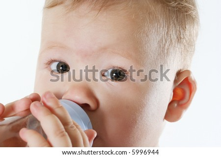 portrait eyes beauty small child human isolated