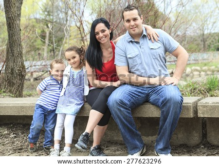 Portrait family outdoors