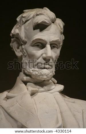 portrait lincoln memorial statue - stock photo