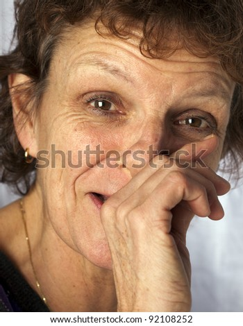 portrait of a adult sneezing - stock photo