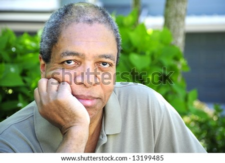 Portrait of a african american man. - stock photo