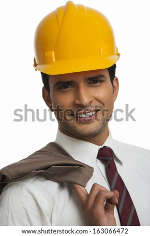 Portrait of a an architect smiling