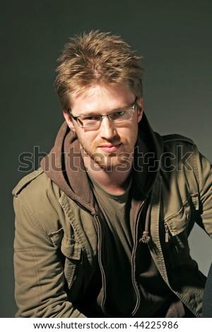 portrait of a attractive man - stock photo