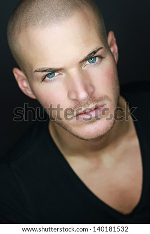 Portrait of a bautiful young man - stock photo