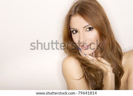 portrait of a beautiful adult sensuality woman