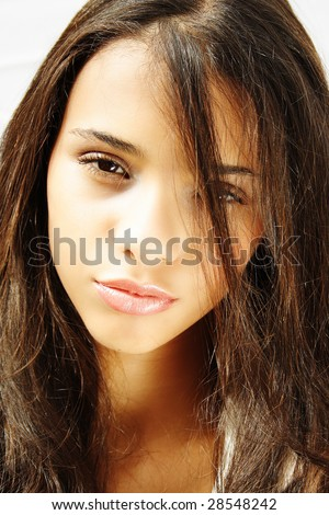 Portrait of a beautiful african american girl - stock photo