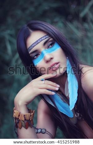 Girl tattoo native nude american indian