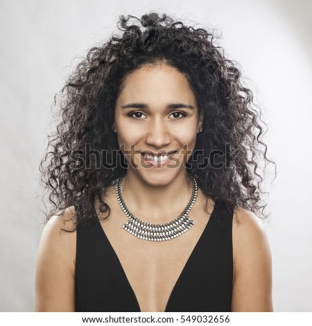 Portrait of a beautiful mixed race woman
