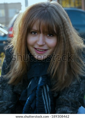 Portrait of a beautiful, reckless girl, close-up. - stock photo