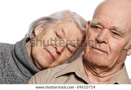 Portrait of a beautiful senior couple - stock photo
