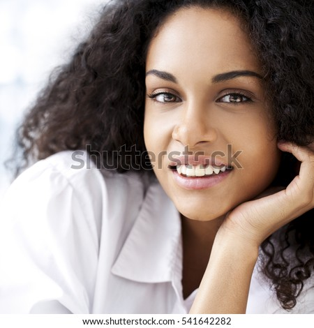 stock photo portrait of a beautiful smiling african woman 541642282