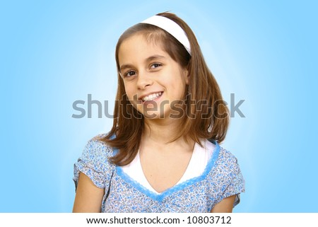 portrait of a beautiful teenager - stock photo