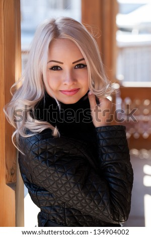 Portrait of a beautiful young blonde