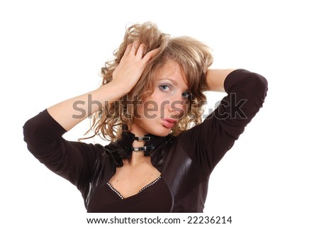 Portrait of a beautiful young sexy woman - stock photo