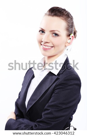 Portrait of a business lady  - stock photo