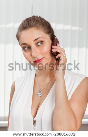 Portrait of a business woman - stock photo