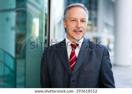 Portrait of a businessman - stock photo