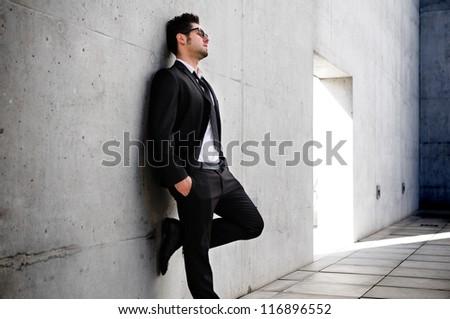 Portrait of a businessman concerned about crisis - stock photo