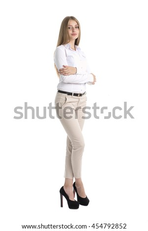 Portrait of a businesswoman in a white shirt