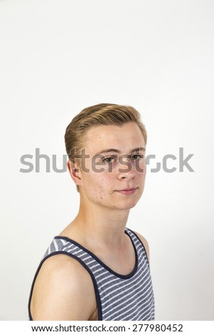 portrait of a cheerful young man. background with space for text. - stock photo