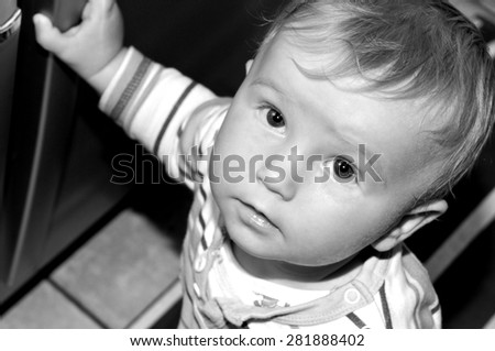 Portrait of a child  - stock photo