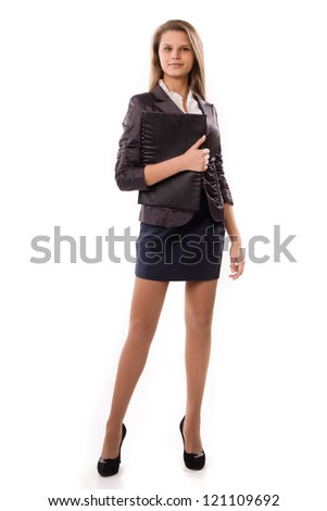 Portrait of a confident attractive secretary - stock photo