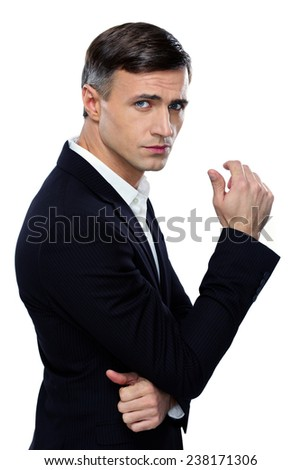 Portrait of a confident businessman over white background