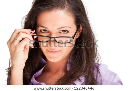 Portrait of a confident woman - stock photo