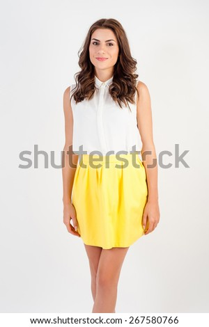 Portrait of a confident young business woman looking at camera! - stock photo