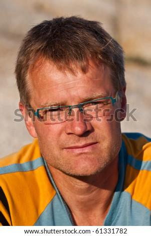 Portrait of a confident young men - stock photo