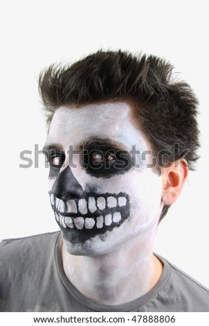 portrait of a creepy skeleton guy perfect for Carnival