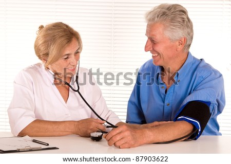 portrait of a cute doctor and a patient