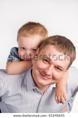 portrait of a dad with his son