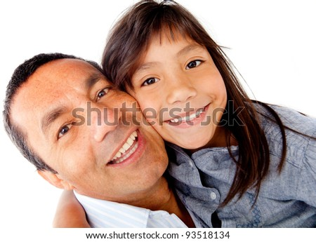 Portrait of a Daddys girl - isolated over a white background
