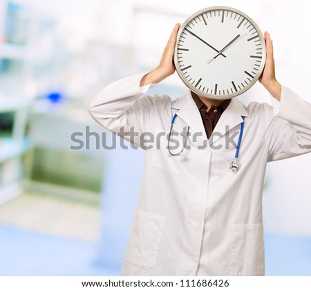 Portrait Of A Doctor Hiding His Face, Background