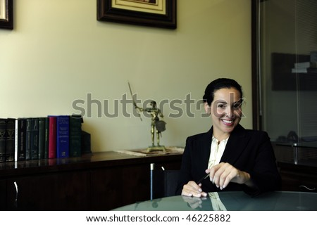 portrait of a female lawyer at office - stock photo