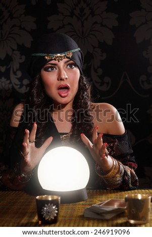 Portrait of a fortune-teller - stock photo