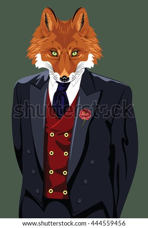 COPE- TO SHRINK BACK IN FEAR OR LOATHING Stock-photo-portrait-of-a-fox-in-a-man-s-business-suit-444559456
