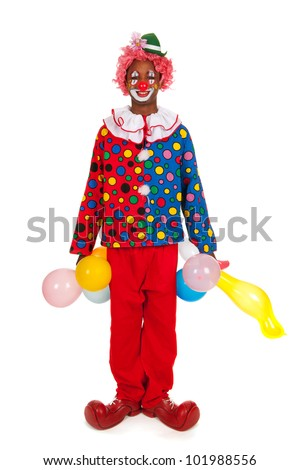 Portrait of a funny black clown
