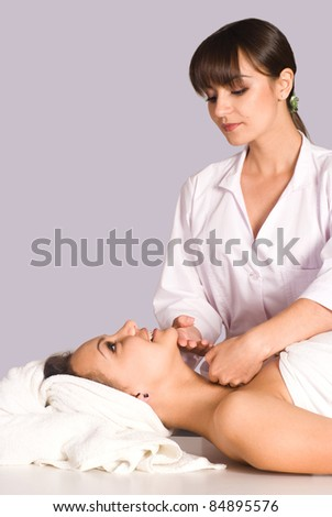 portrait of a girl at body massage