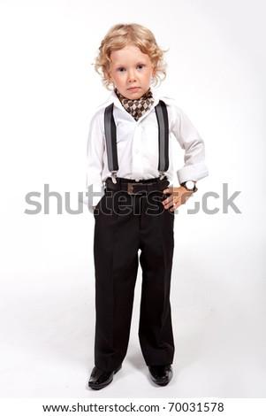 portrait of a glamorous boy - stock photo