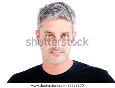 Portrait of a handsome confident man against a white background